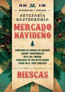 cartel Biescas mercado navideño