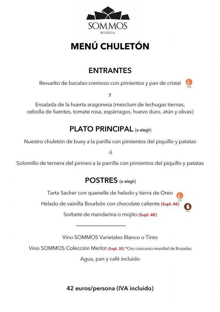 SOMMOS RESTAURANTE menu chuleton