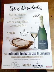 imagen cartel ostra champagne