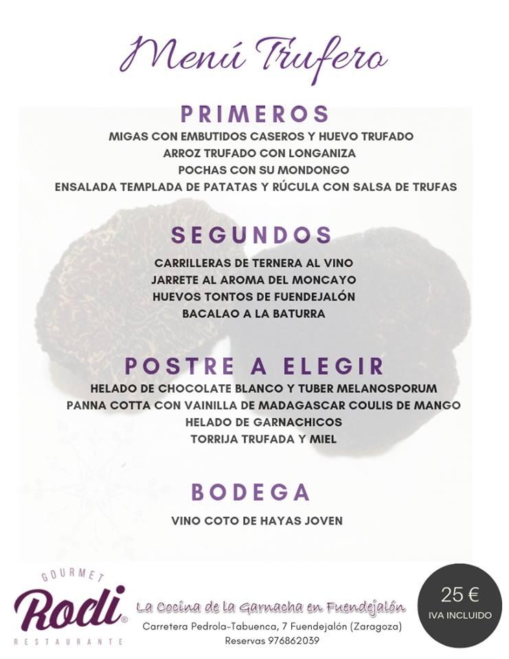 RODI Menú trufero 2019