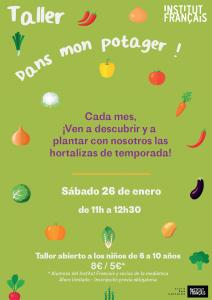 Taller hortalizas enero Instituto francés