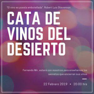 22 feb cata vinos desierto