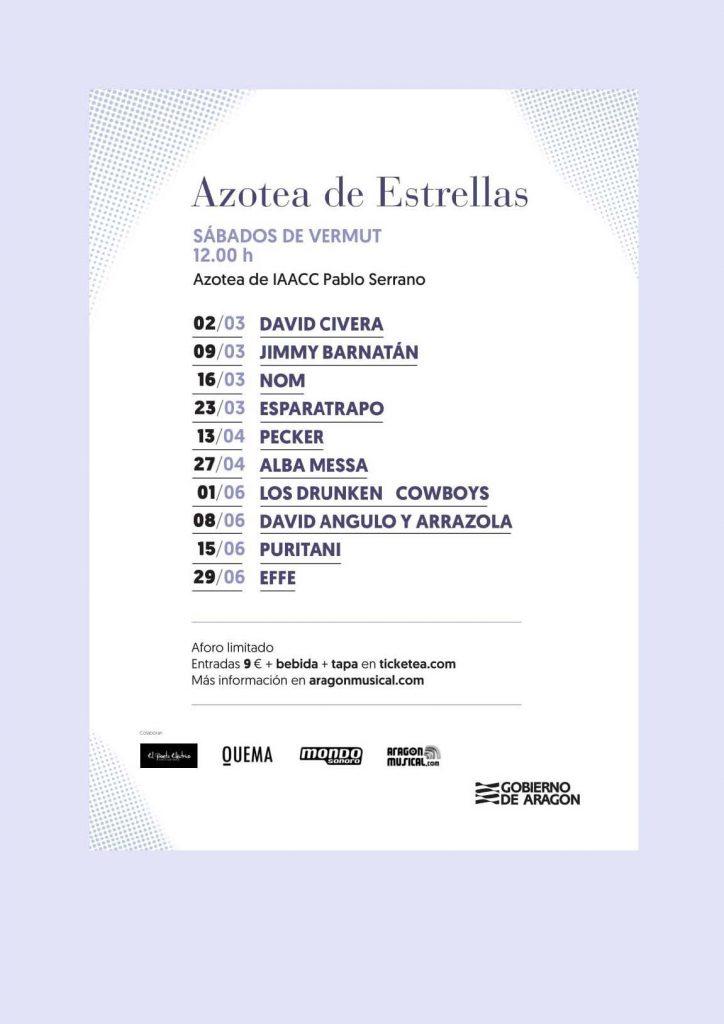 Ciclo Aragón Musical Azotea Primavera 2019 programación