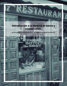 Portada Introduccion a la historia de bares y restaurantes
