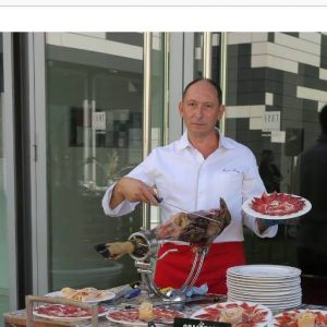 Isaac Ruiz cortador de jamon