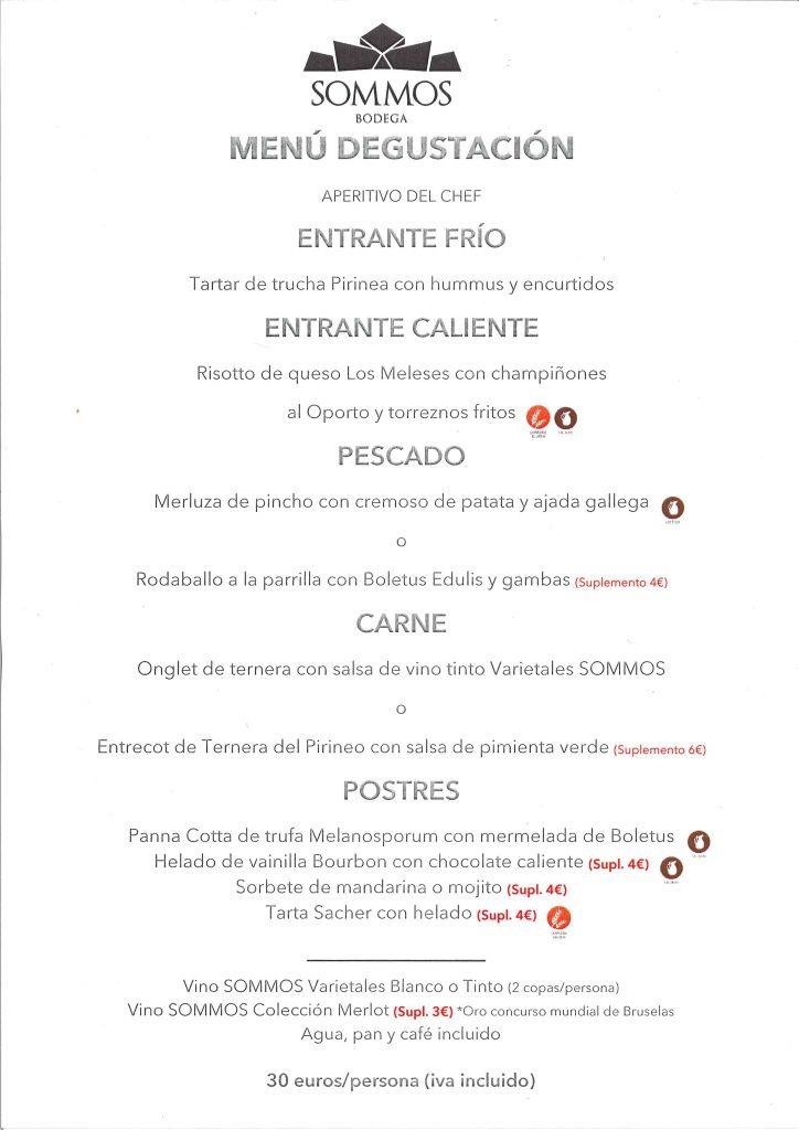 menu degustacion SOMMOS fb 19