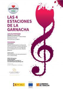 Cartel Cata de primavera Las cuatro estaciones de la Garnacha Campo de Borja