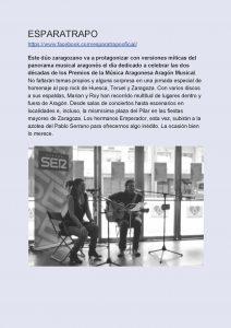 Ciclo Aragón Musical Azotea Primavera 2019 Azotea de las estrellas Esparatrapo