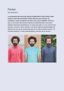 Ciclo Aragón Musical Azotea Primavera 2019 Pecker