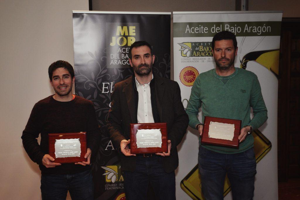 Entrega premios Mejor Aceite del Bajo Aragón 2019