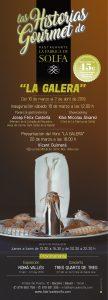 Cartel Historias Gourmet La Galera en La Fabrica de Solfa - Beceite