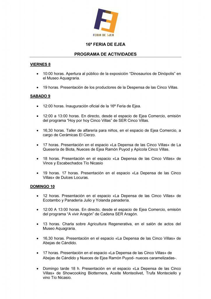 Programa-de-activididades-16ª-Feria-de-Ejea