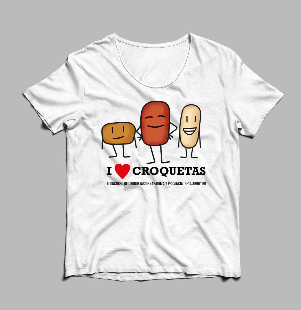camiseta croquetas