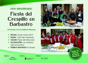 Cartel Fiesta del Crespillo de Barbastro 2019