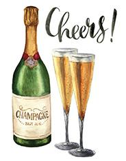 champagne brindis