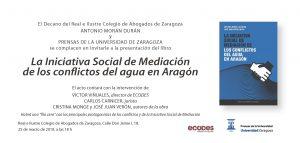 Presentación libro Iniciativa Conflicto del Agua en Aragón