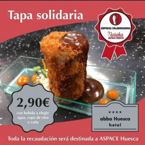 Tapa Solidaria abba Huesca Hotel y ASPACE HUESCA