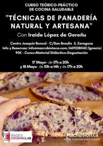 Curso de técnicas de panadería natural y artesanal