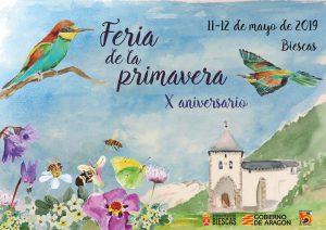 Cartel X Fiesta de la Primavera en Biescas
