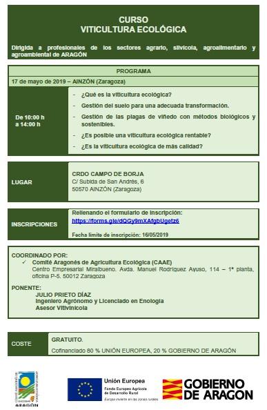 Información - Curso de viticultura ecológica