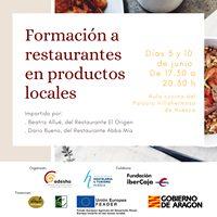 Formación para restaurantes en productos locales