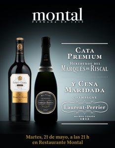 Cartel Cata Premium y Cena Maridada