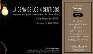 Cena de los 4 Sentidos - Cena a Ciegas - Marengo