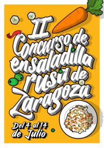 Cartel del II Concurso de Ensaladilla Rusa de Zaragoza