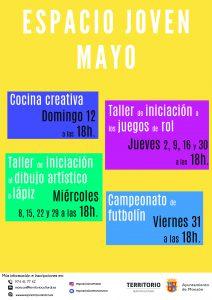 Programación Espacio Joven Monzón Mayo