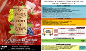 Programa Feria del vino y la tapa