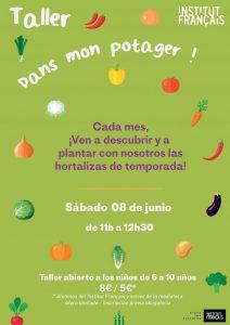 Cartel de Dans mon potager! de junio