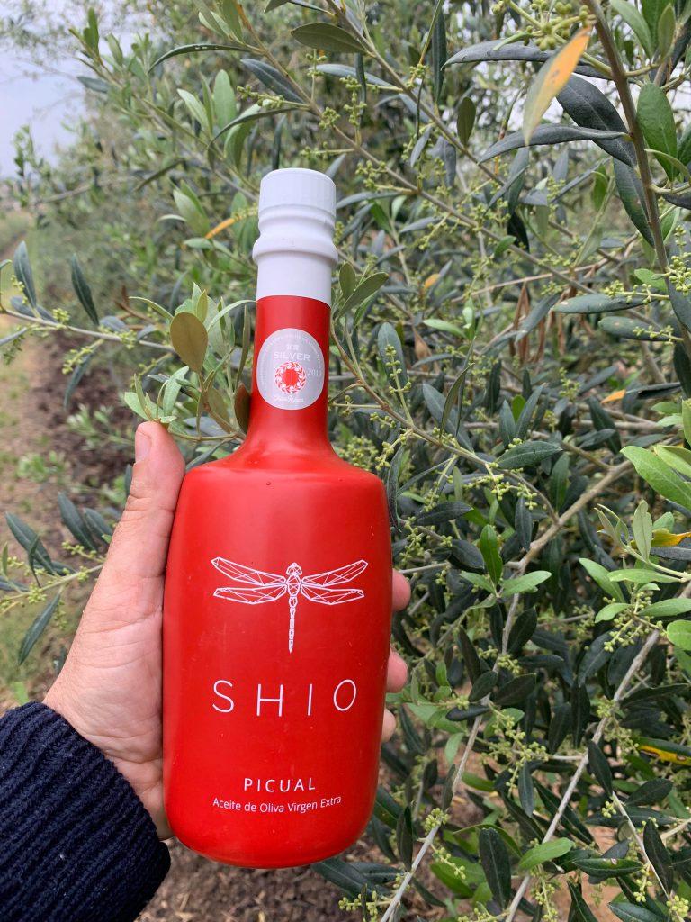 aceite SHIO Picual con medalla