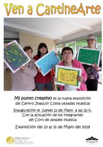 """Cartel Cantinarte """"Mi punto creativo"""""""