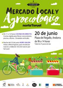 Cartel del mercado local y agroecológico de Teruel