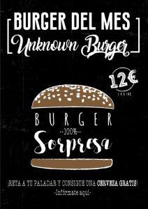 Hamburguesa del mes en 84 Burger Café