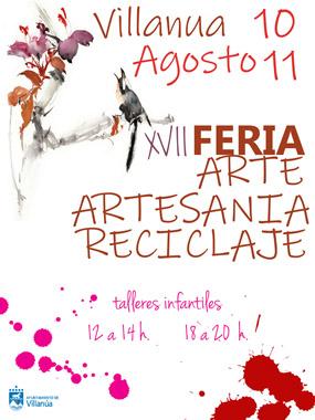 Feria de arte, artesanía y reciclaje en Villanúa