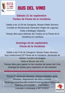 Bus del vino Cariñena Fiesta de la Vendimia