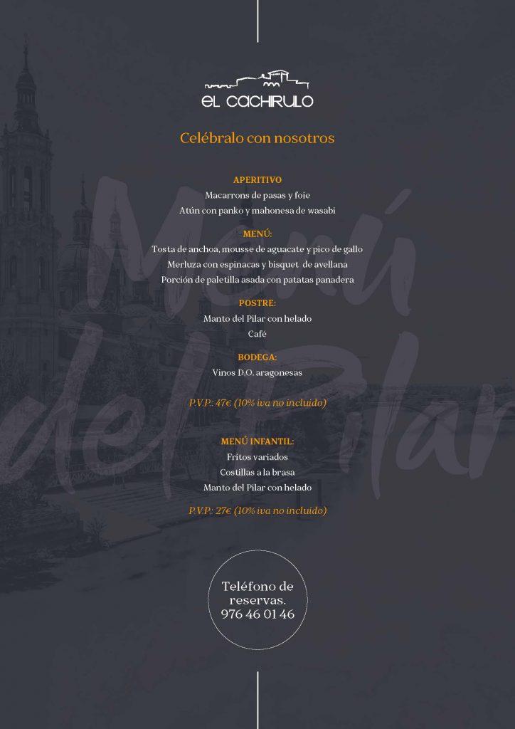 Cachirulo Menú Pilar 2019