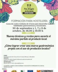 Formación para hosteleros Pon Aragón en tu mesa