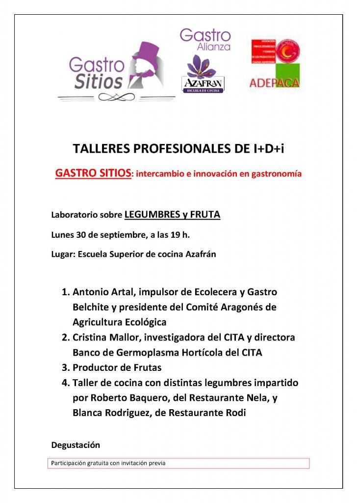 TALLER PROFESIONAL DE legumbres