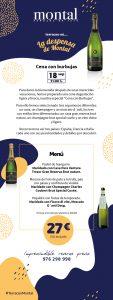 Cena de Burbujas en Montal
