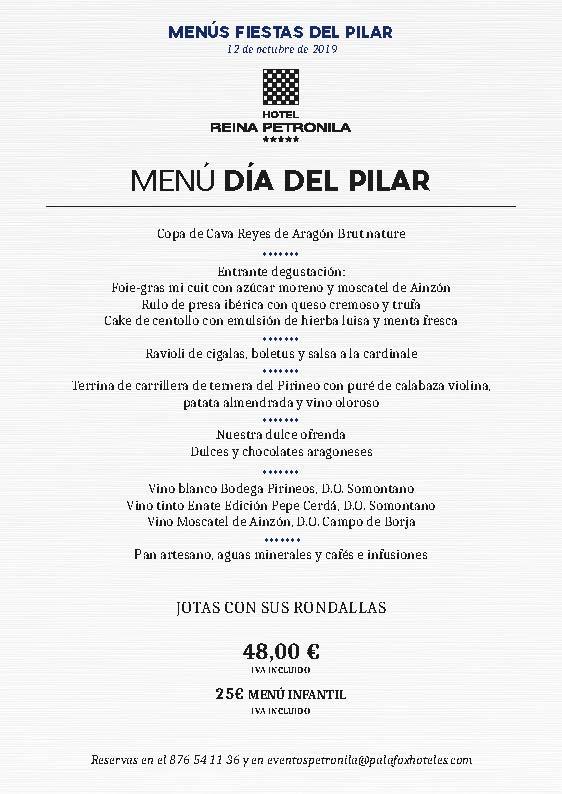 menus-diadelpilar2019 Petronila