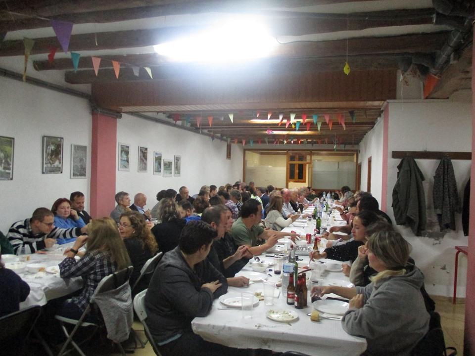 Cena micológica en Biscarrués