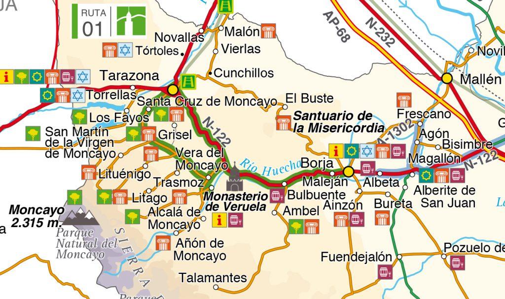 Mapa Ruta Borja Tarazona
