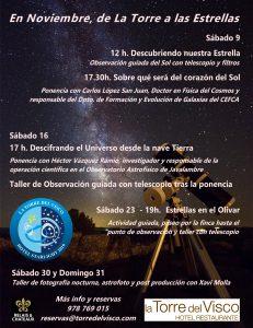 Programa noviembre La Torre del Visco