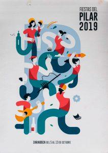Cartel Fiestas del Pilar 2019