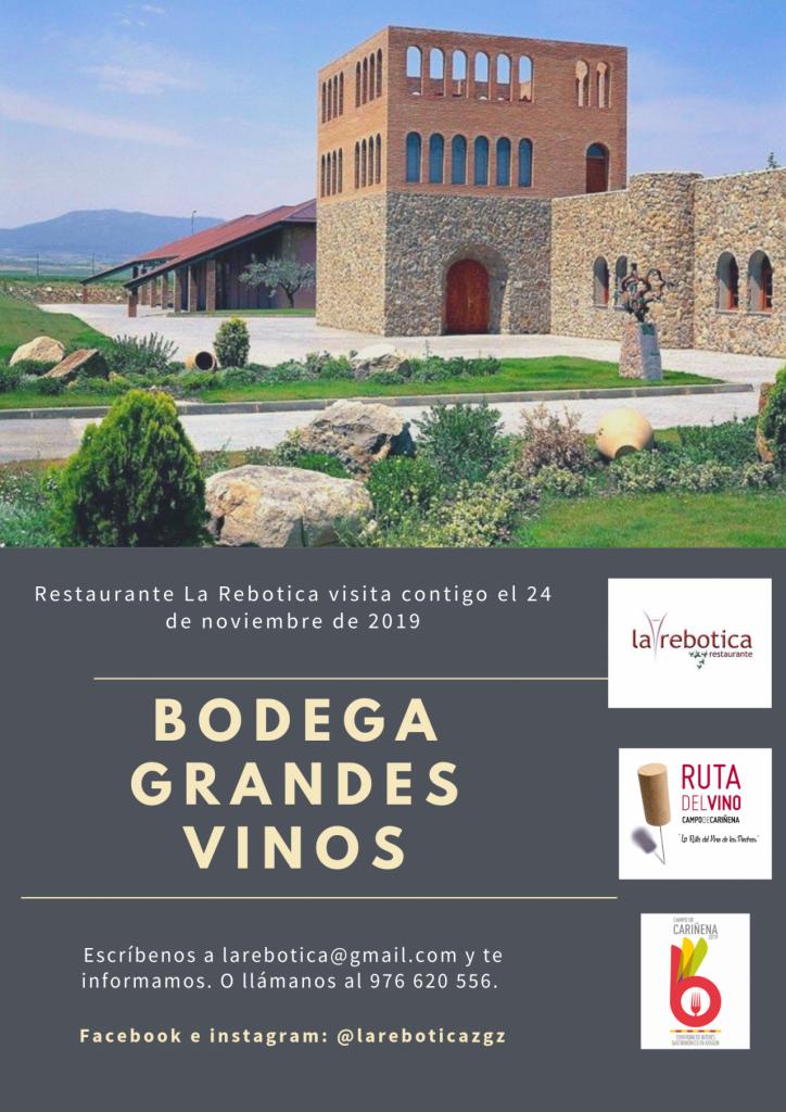 Visita a bodega y cata Grandes Vinos La rebotica