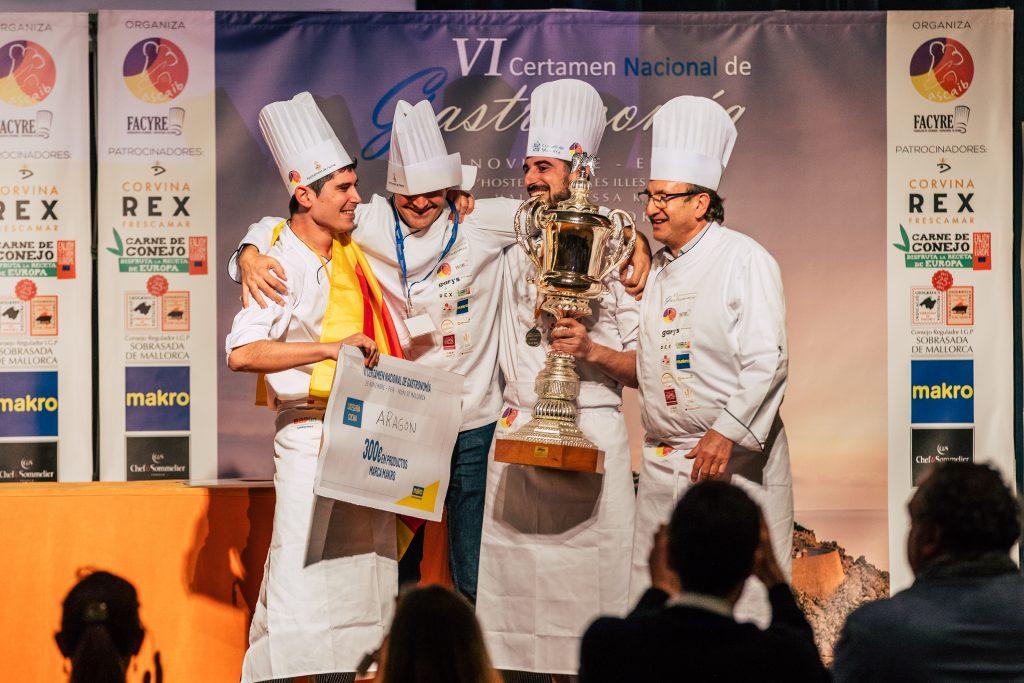 Representantes de la Asociación de Cocineros de Aragón