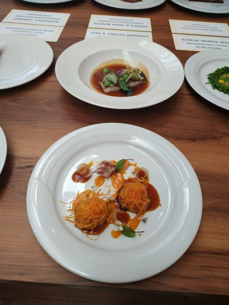 Foto 2. Platos elaborados por los hermanos Carcas en el VI Certamen Nacional de Gastronomía v2