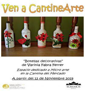 CARTEL EXPO botellas decorativas